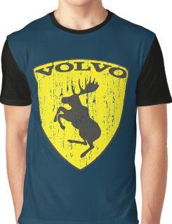Volvo Prancing Moose - Grunge Graphic T-Shirt