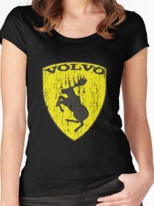 Volvo Prancing Moose - Grunge Women's Fitted Scoop T-Shirt