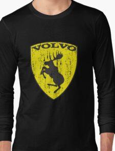 Volvo Prancing Moose - Grunge Long Sleeve T-Shirt