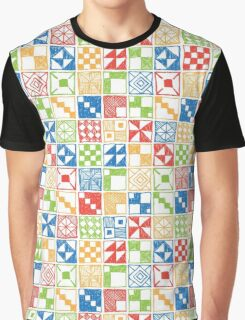Abstract Squares Primary Graphic T-Shirt