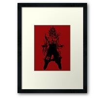 Saiyan Power up Framed Print