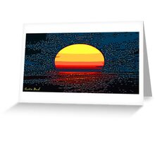 Picture 2015064 Justin Beck setting sun Greeting Card