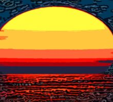 Picture 2015064 Justin Beck setting sun Sticker