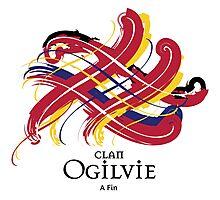 Clan Ogilvie - Prefer your gift on Black/White tell us at info@tangledtartan.com  Photographic Print