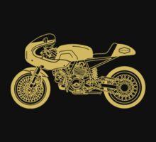 Retro Cafe Racer Bike - Yellow by superleggera