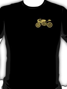 Retro Cafe Racer Bike - Yellow T-Shirt