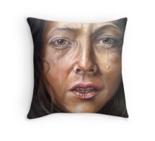 Regretting every word you've spoken Throw Pillow