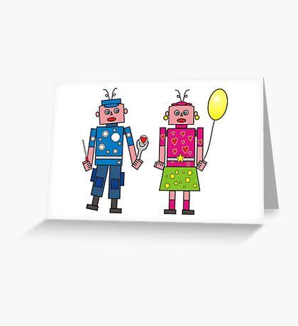 Roboter Liebe Greeting Card