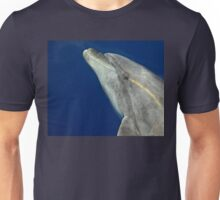 Making friends with a bottlenose dolphin Unisex T-Shirt