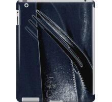 Knife and Fork - Cold Blue Steel iPad Case/Skin