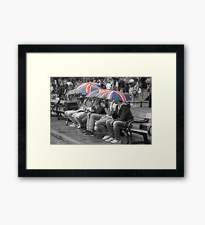 Great Britain In The Rain Framed Print