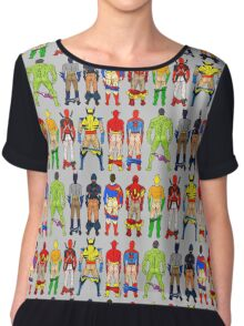 Superhero Butts Chiffon Top