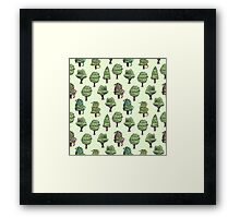 Decorated Trees Framed Print