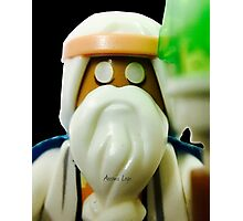 The Blind Sage Vitruvius, can always be your voice of reason Photographic Print