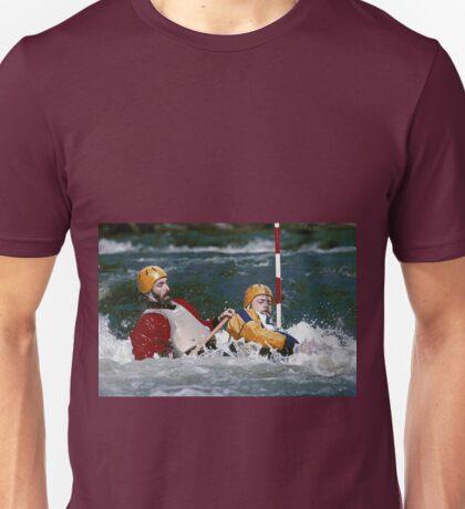 """Physical exertion in canoeing 1 (c)(t) canon eos 10 """" 1 collimateur af en continue celui de gauche ( 3 en tout )""""  300 f.2.8 + x2 = 600 mm f/6.4  création Okaio  kodachrome 200 iso  scoop de 1989 Unisex T-Shirt"""