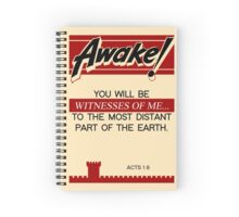 Vintage: Old Awake with Acts 1:8 Spiral Notebook