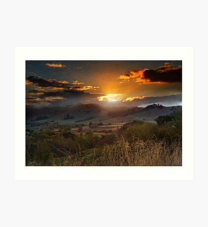 The Last Ray of Sun Art Print
