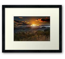 The Last Ray of Sun Framed Print