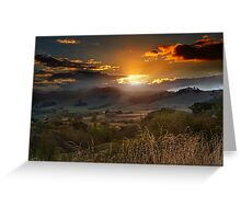 The Last Ray of Sun Greeting Card