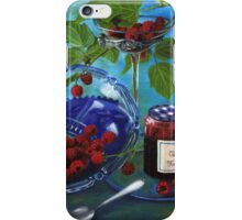 Still-life with raspberries iPhone Case/Skin