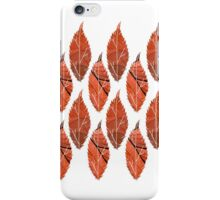Red Leaf Pattern iPhone Case/Skin