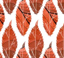 Red Leaf Pattern Sticker