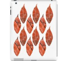 Red Leaf Pattern iPad Case/Skin
