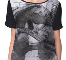 Fighting Horses Justin Beck Picture 2015092 Chiffon Top