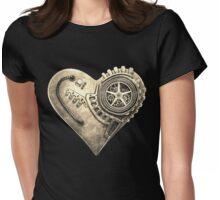 Steampunk Vintage Clockwork Heart Womens Fitted T-Shirt