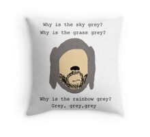 Wilfred grey Throw Pillow