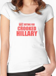 Crooked Hillary Women's Fitted Scoop T-Shirt