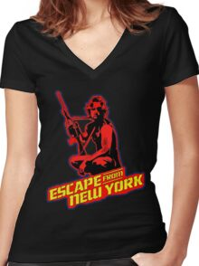Snake Plissken (Escape from New York) Colour 2 Women's Fitted V-Neck T-Shirt