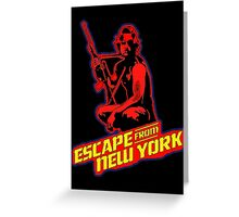 Snake Plissken (Escape from New York) Colour 2 Greeting Card