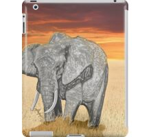 Savana Elephant Justin Beck Picture 2015085 iPad Case/Skin