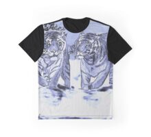 Snow Tigers Blue Justin Beck Picture 2015088 Graphic T-Shirt