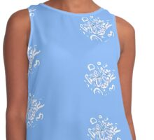Spring Blossom Abstract Contrast Tank