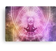Yoga Buddha Style Metal Print