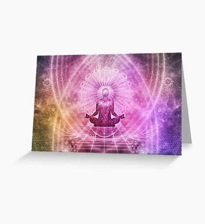 Yoga Buddha Style Greeting Card