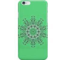 Kaleidoscope of mint green icicles iPhone Case/Skin