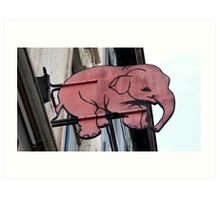 Seeing Pink Elephants? Art Print