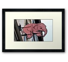 Seeing Pink Elephants? Framed Print