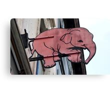 Seeing Pink Elephants? Canvas Print