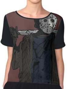 You're doomed, you're all doomed! Jason Vorhees Chiffon Top