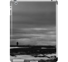 Black and white man on Arctic horizon iPad Case/Skin