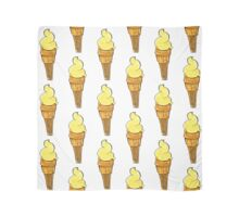 Yellow ice-cream cone watercolor acrylic drawing graphic sketch Scarf