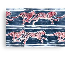 SPEEDY CHEETAHS - NAVY Canvas Print