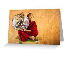 Love the Earth Monk - Yangon, Myanmar Greeting Card