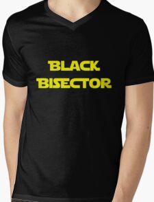 Black Bisector Mens V-Neck T-Shirt