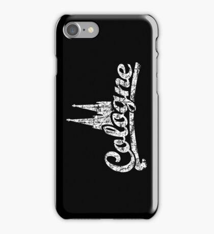 Cologne Classic Vintage Schwarz/Weiß iPhone Case/Skin