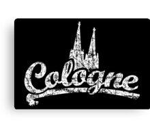 Cologne Classic Vintage Schwarz/Weiß Canvas Print